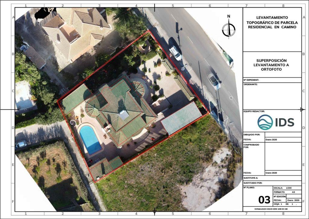 levantamiento topografico parcela con ortofoto con dron