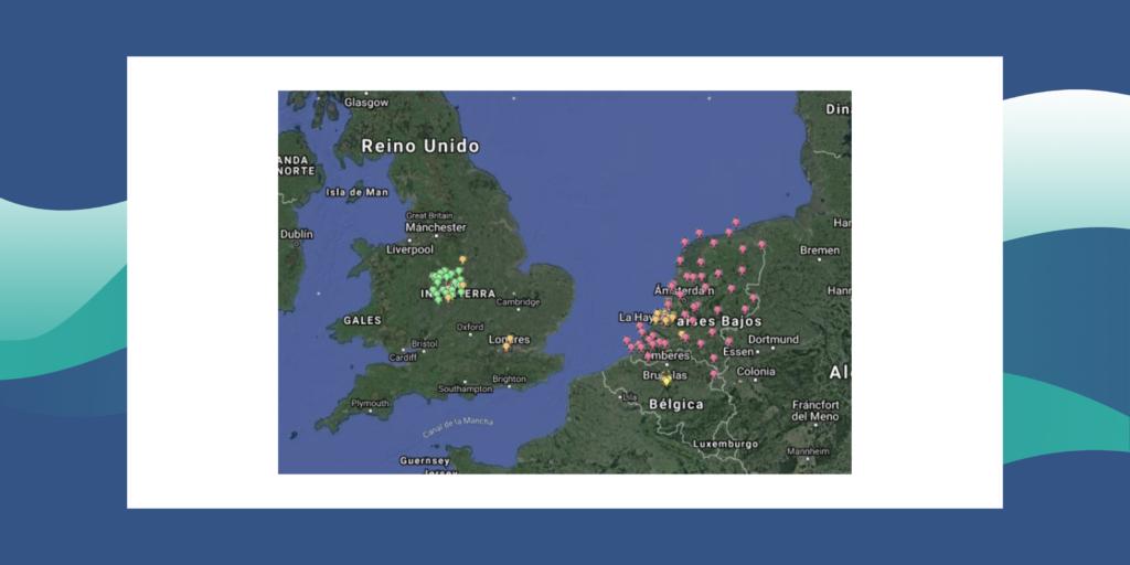 mapa reino unido y países bajos_ciencia ciudadana_alerta inundaciones