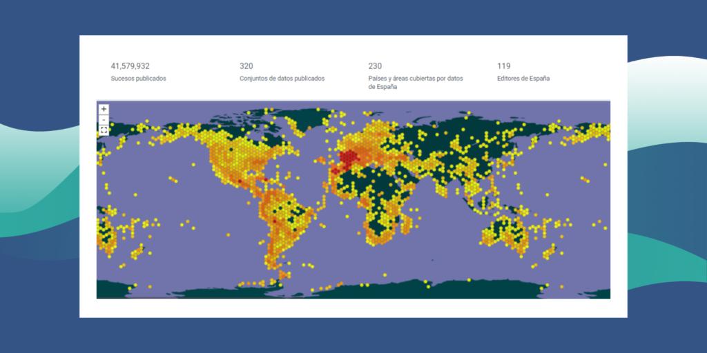 Mapa mundial de biodiversidad generado por SIG_ciencia ciudadana