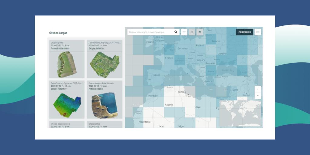 mapa participativo SIG de imagénes dron