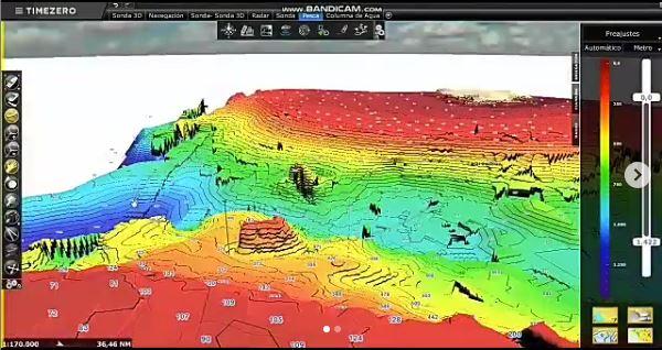 modelo digital de Terreno de una batimetría